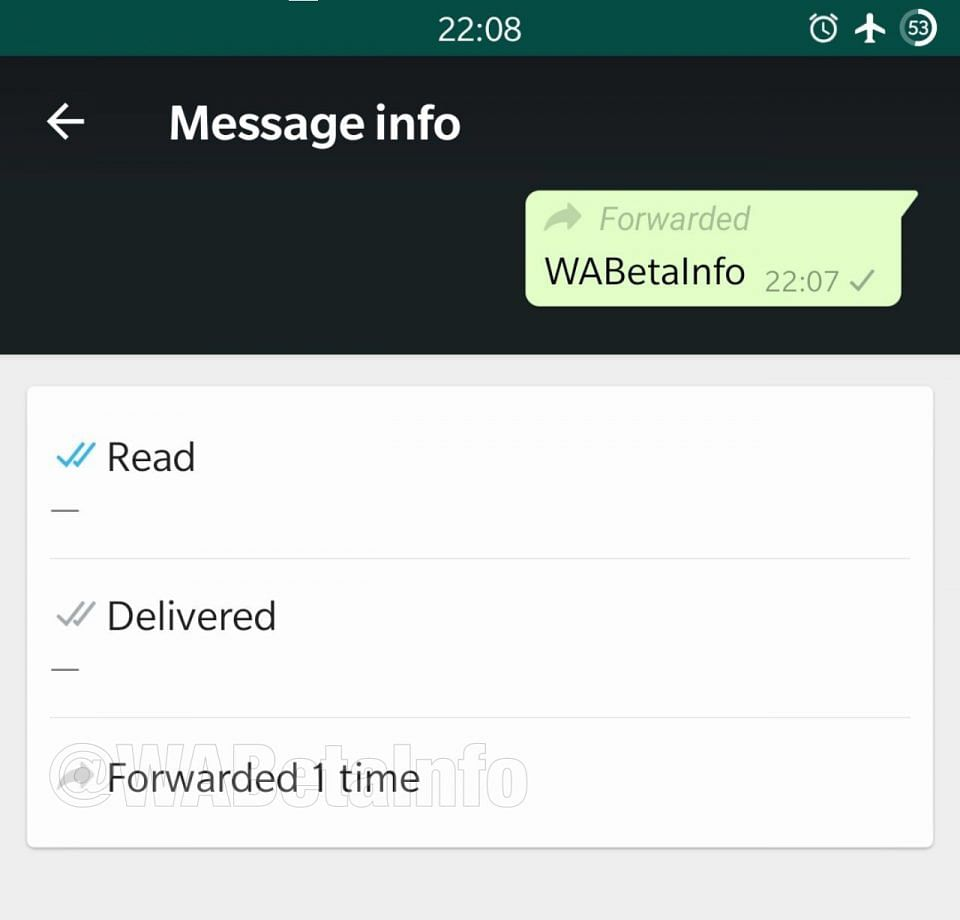 WhatsApp will now tell you how many times your message was forwarded