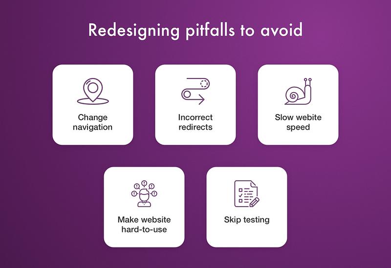 Redesigning pitfalls to avoid