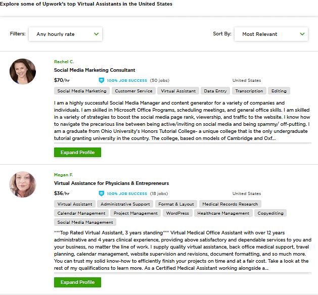 virtual assistant jobs