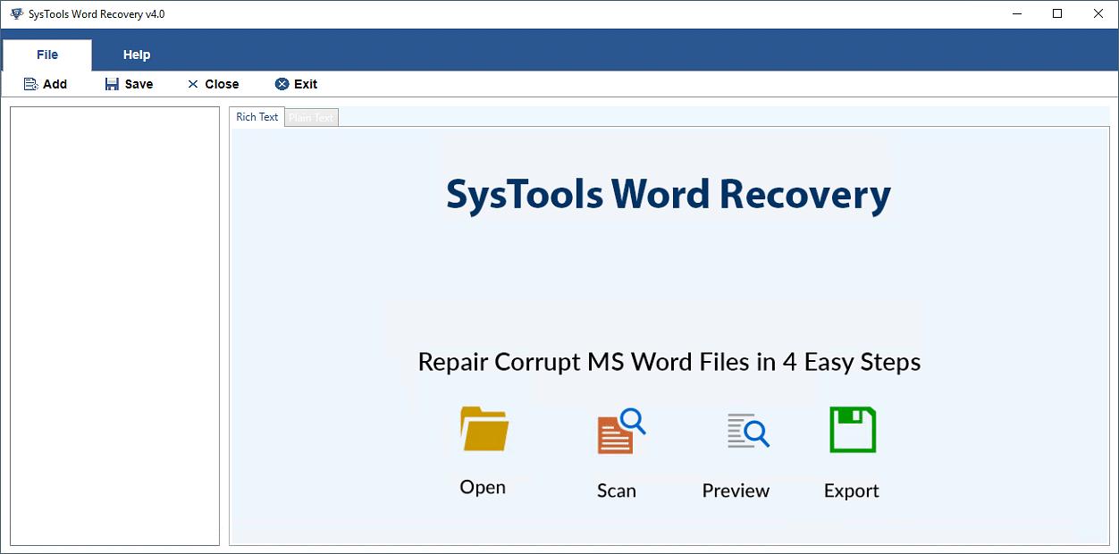 Repair damaged Word file