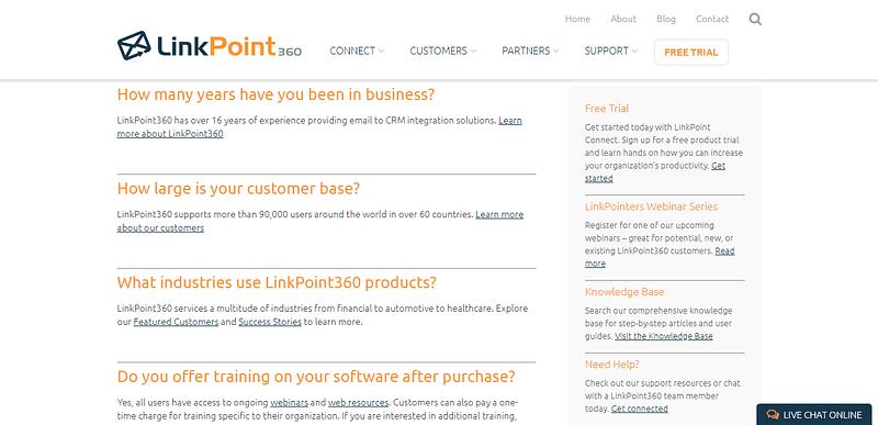 Create buyer focused FAQs