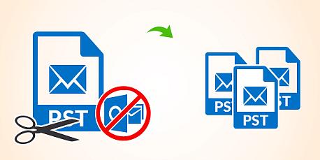 Outlook PST Splitter to Divide oversized PST file