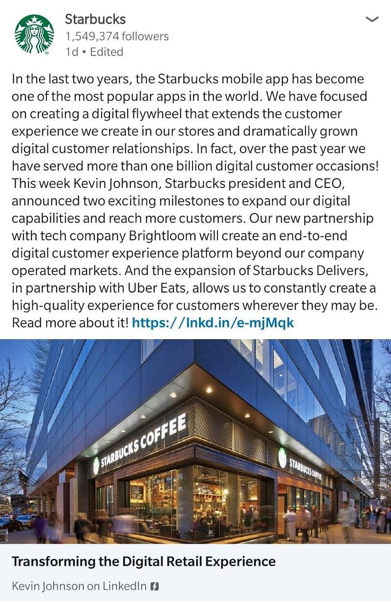 Starbucks LinkedIn