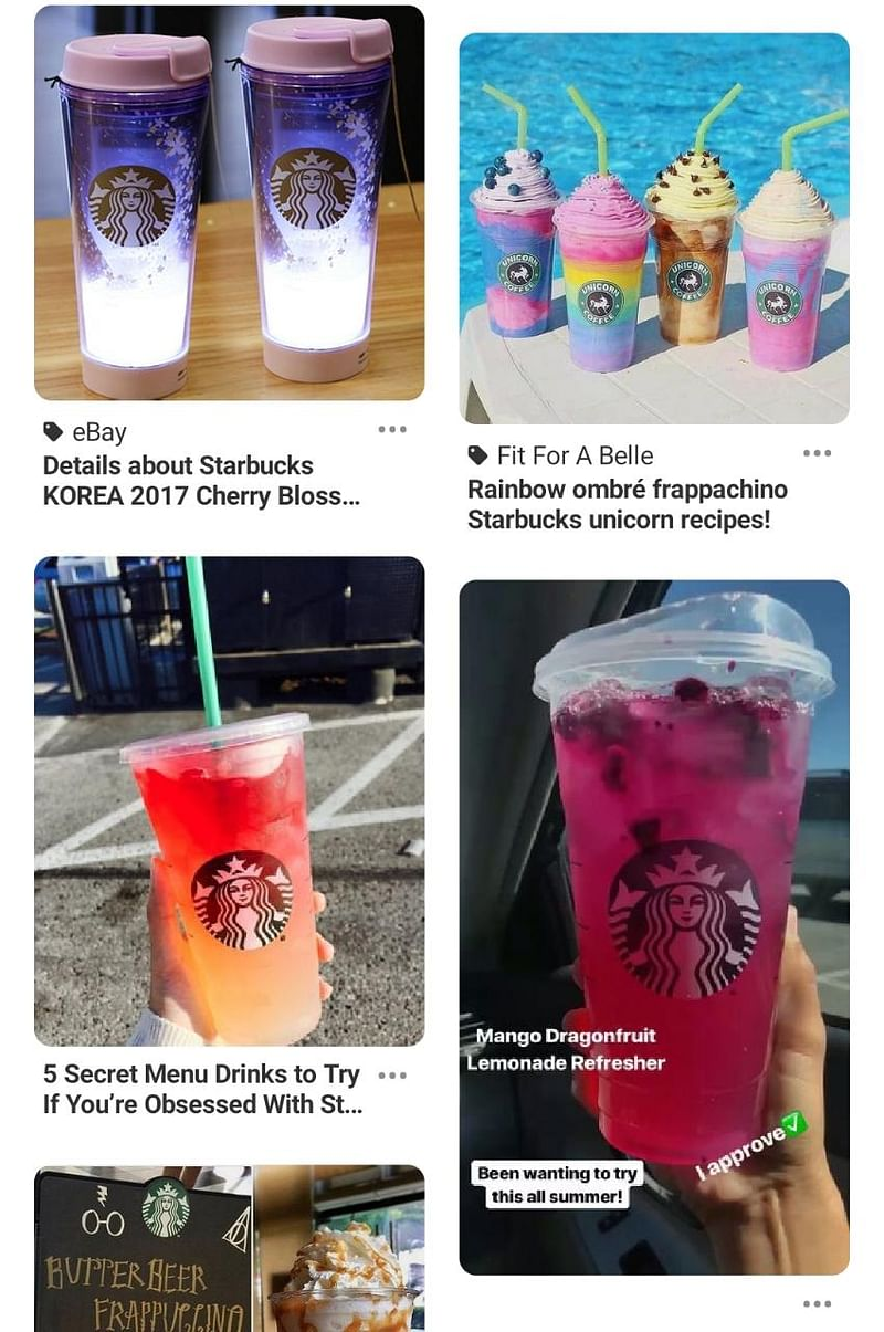 Starbucks Pinterest