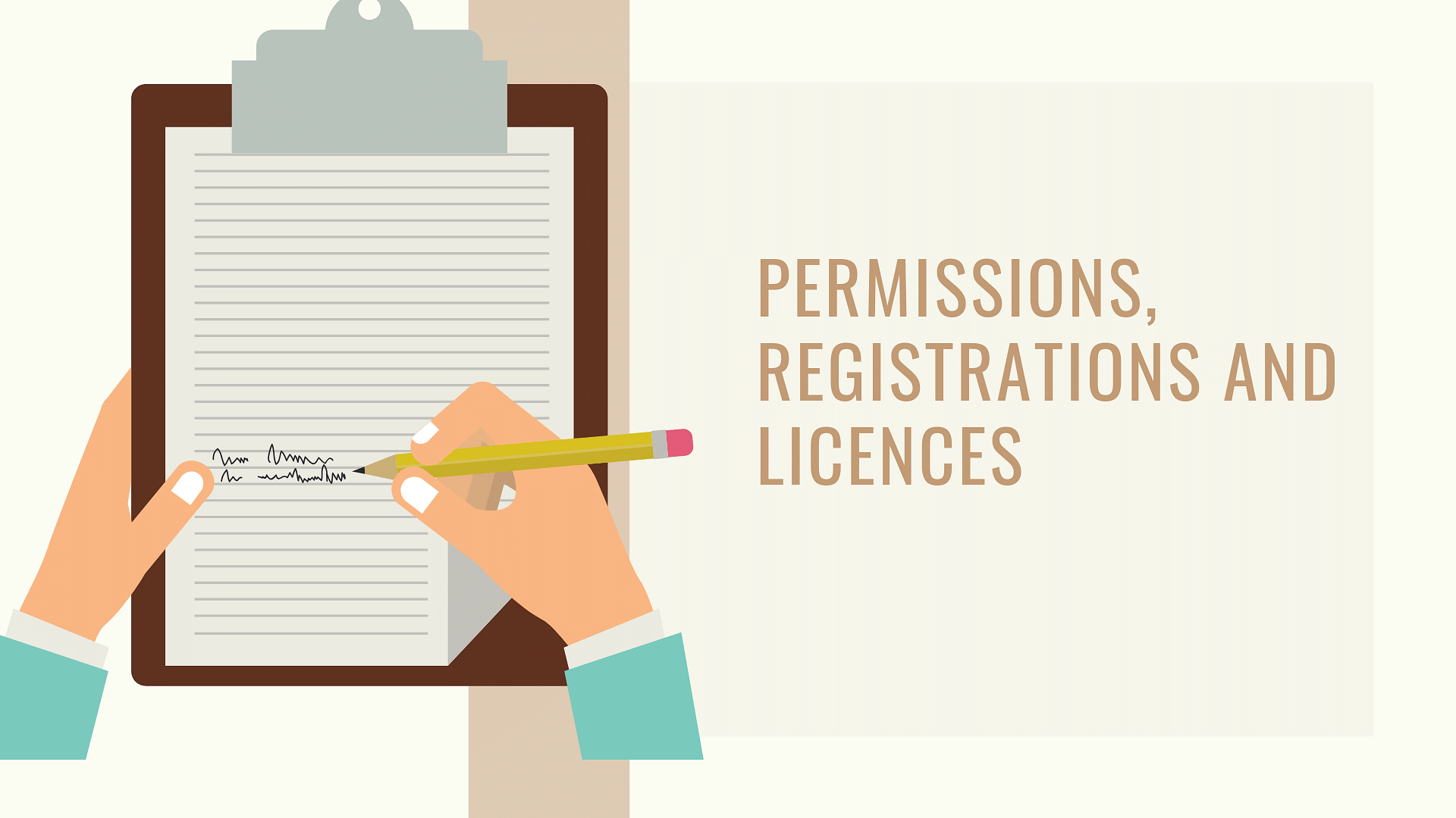 Which permissions, registrations and licences one require for business?