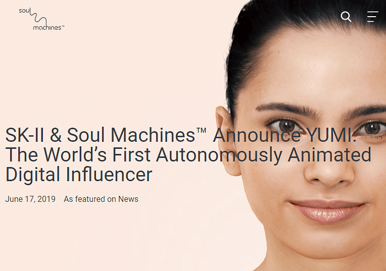 Image of an animated influencer