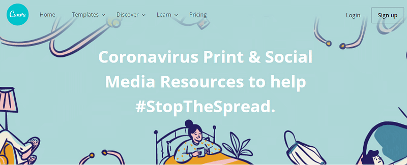 Canva #StopTheSpread
