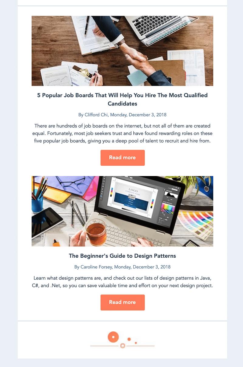 Hubspot Email Newsletter