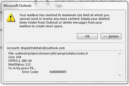 How to Fix Outlook Data File has Reached the Maximum Size Error