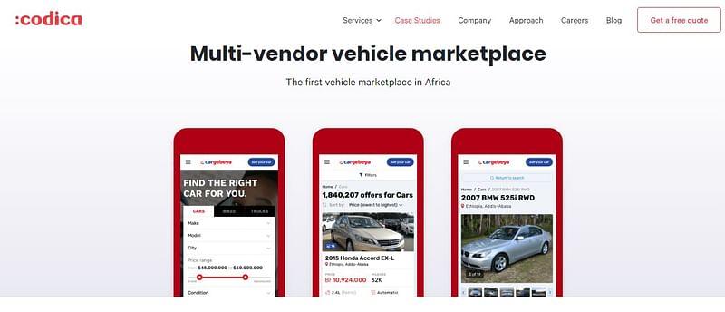 codica vehicle marketplace