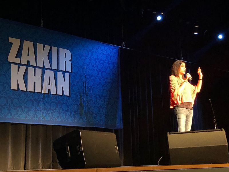Opening the comedy show for Zakir Khan
