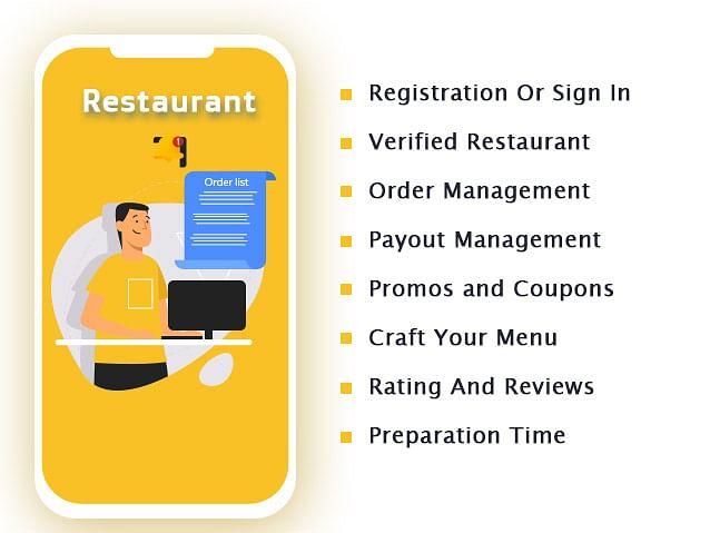 GoferEats - Restaurant Features