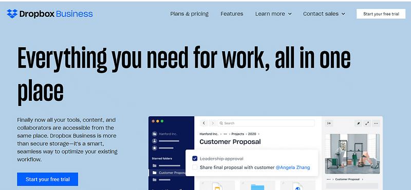 Typography Dropbox Business