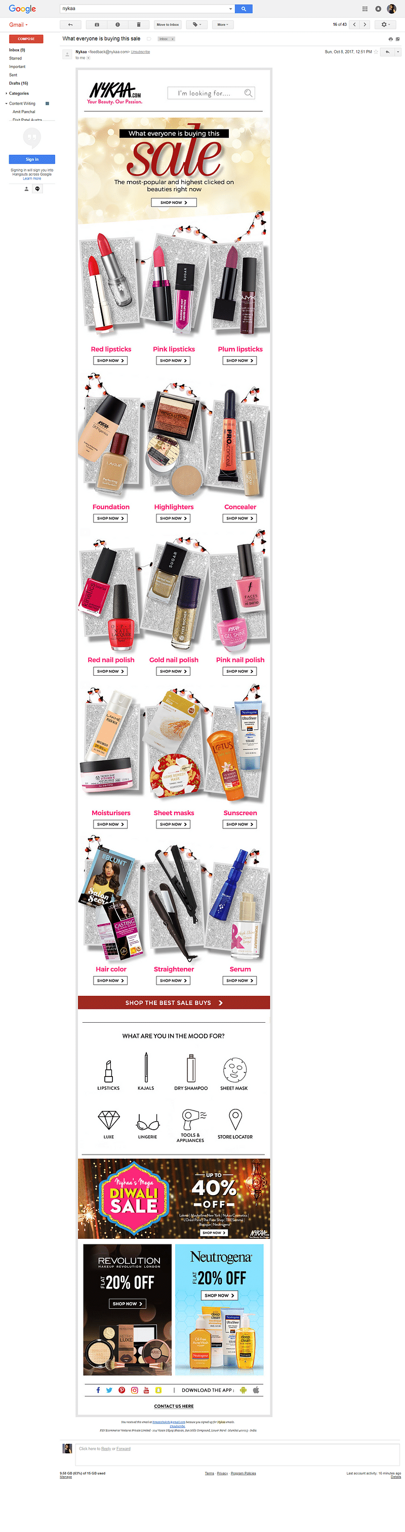 Not so personalized email - Nykaa