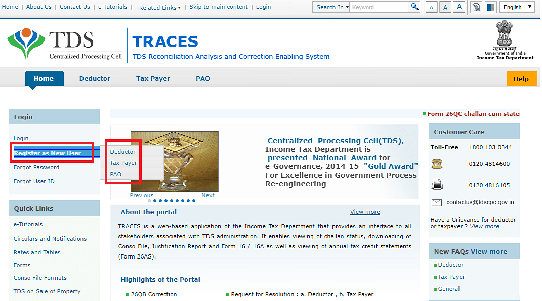 An Easy Guide to TDS TRACES Website Register and Login Information