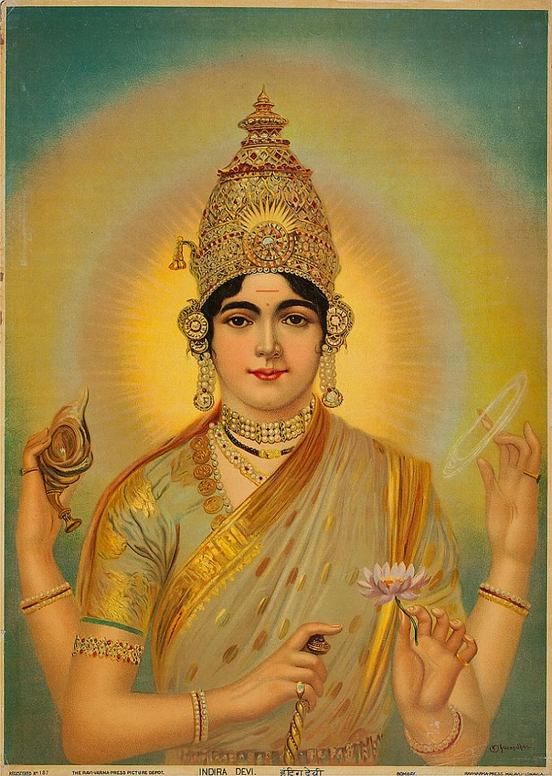 Indira Devi - Early 20th Century by M. V. Dhurandhar