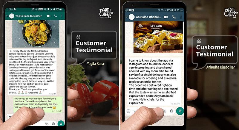 NativChefs customer testimonials