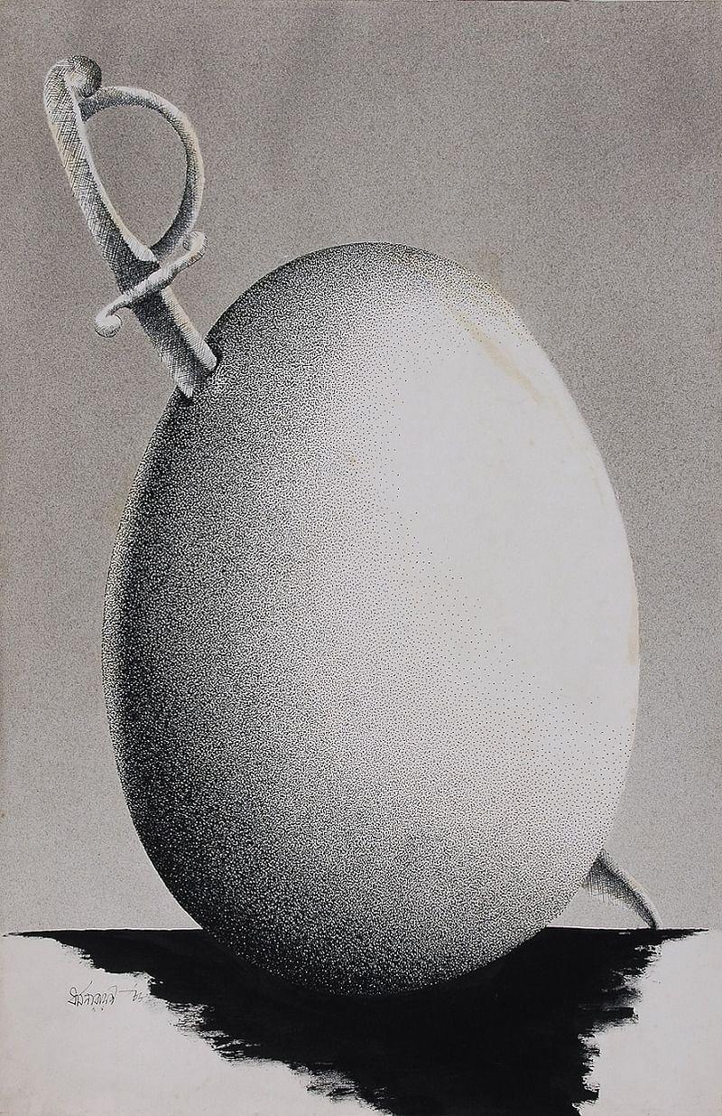 Untitled - 1988 by Dharamanarayan Dasgupta