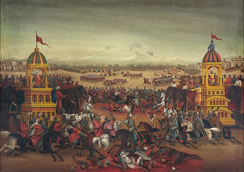 Untitled (Battle of Mahabharata) by Anonymous (Early Bengal)