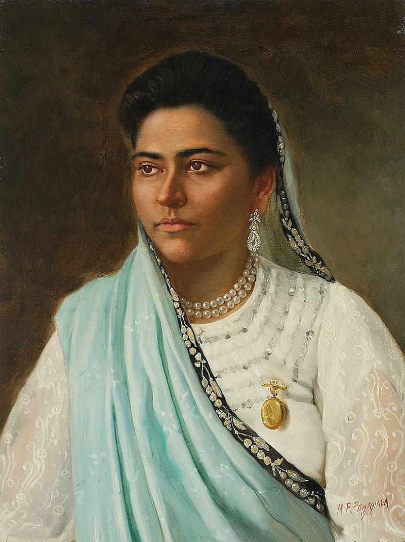 Untitled (Parsi Lady) - 1906 by M. F. Pithawalla