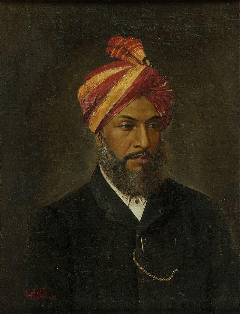Untitled (Portrait of Ba Lakhan Maner) by Abalall Rahiman