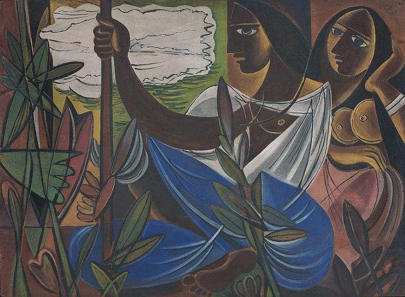 Untitled (Two Women Amid Plants) by George Keyt
