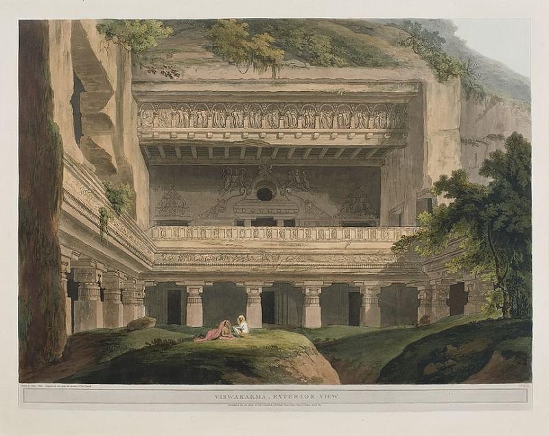 Viswakarma Exterior View by Thomas Daniell