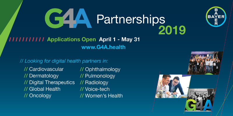 Bayer G4A is inviting healthcare startups to partner with them and 'Change the Experience of Health'