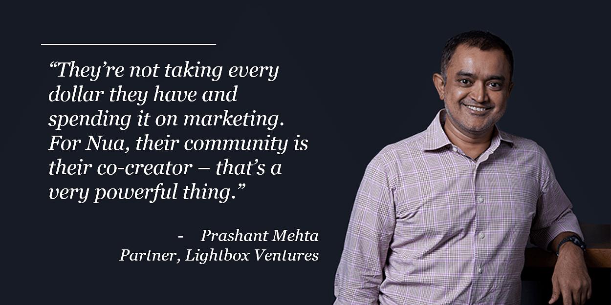 Prashant Mehta, Lightbox Ventures, Nua, Funding