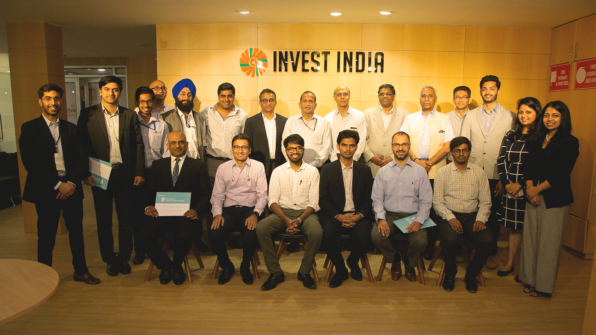 The fifth cohort of the Qualcomm Design in India Challenge program at an exclusive event held in New Delhi