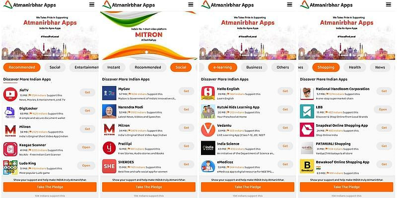 atmanirbhar apps