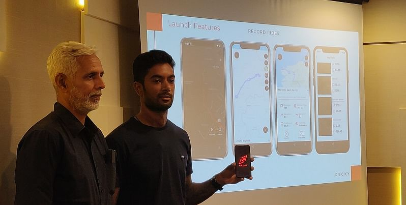 Off-road biker CS Santosh launches Recky, an app to connect riders around the world