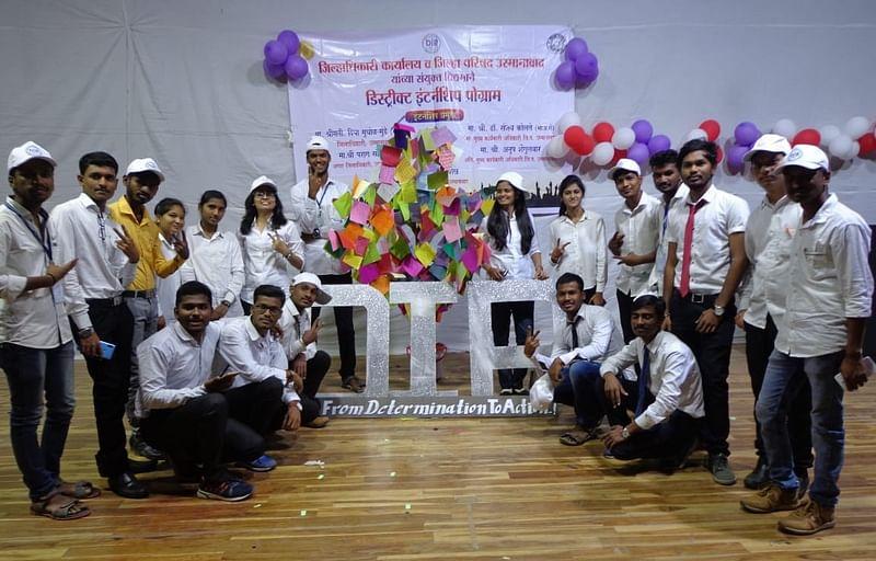 Priyanka Karande and Pallavi Sangle with District Interns