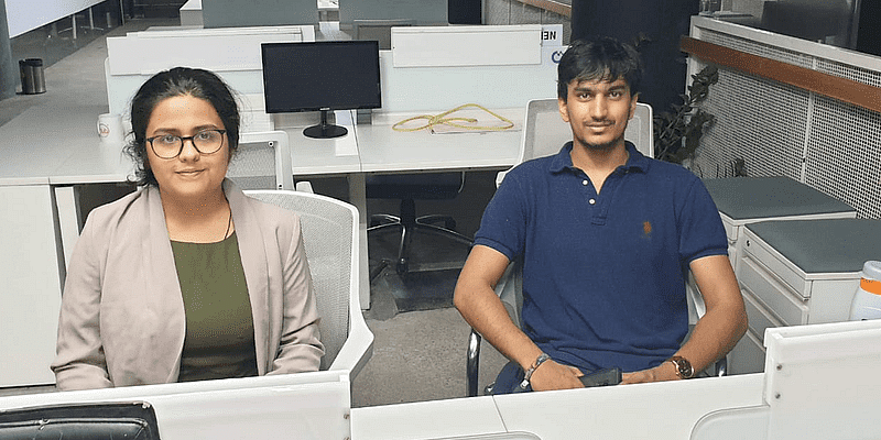 Bikayi co-founders Sonakshi Nathani & Ashutosh Singla (L-R)