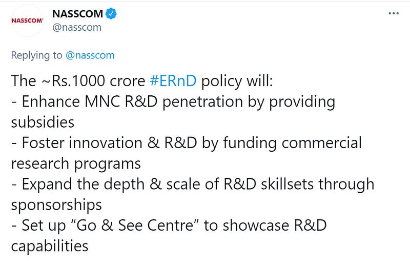 NASSCOM tweet