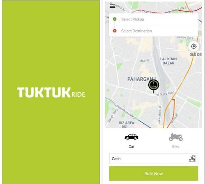 Meet TukTuk Ride, India's newest app-based taxi service that