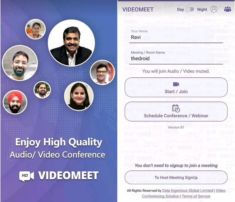 VideoMeet app