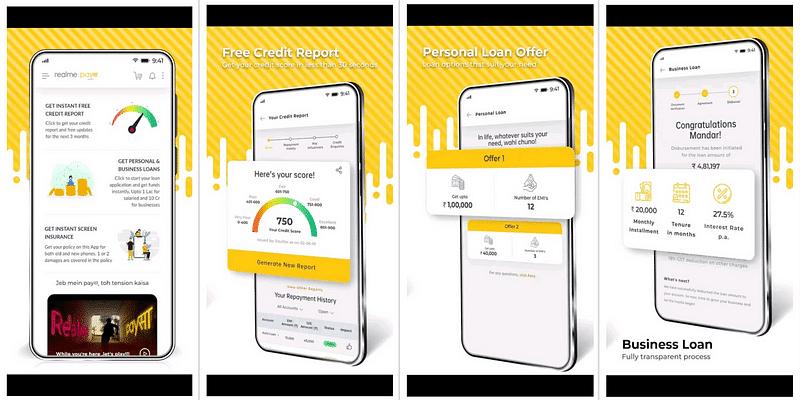 realme PaySa app