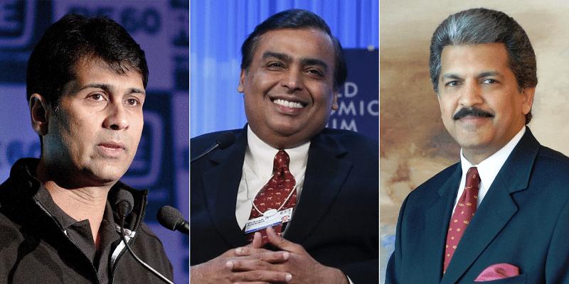 Rajeev Bajaj, Mukesh Ambani , Anand Mahindra