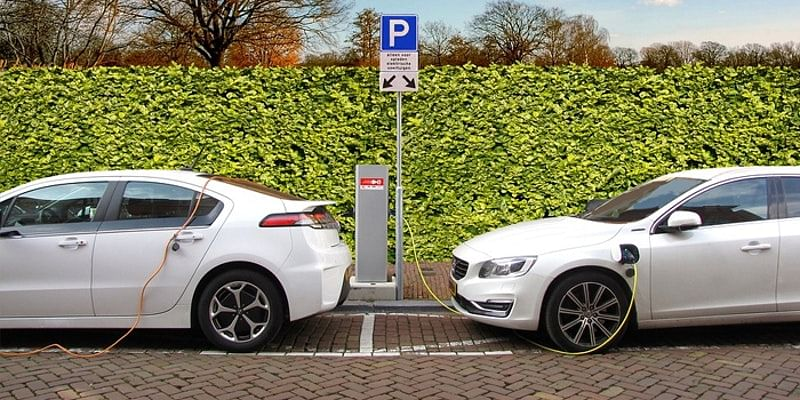 Electric Vehicles Getting Charged