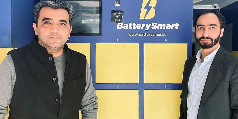 Battery Smart Founders(L:R) Siddharth Sikka, Pulkit Khurana