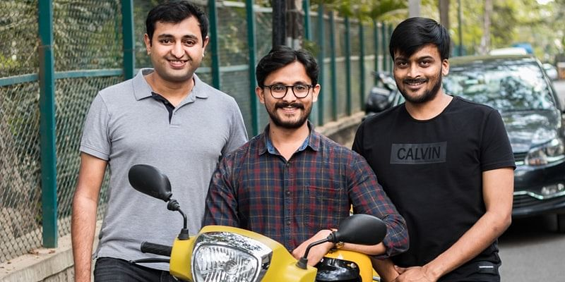 Founding team (Varun Agni, Anil Giri and Vivekananda Hallekere)