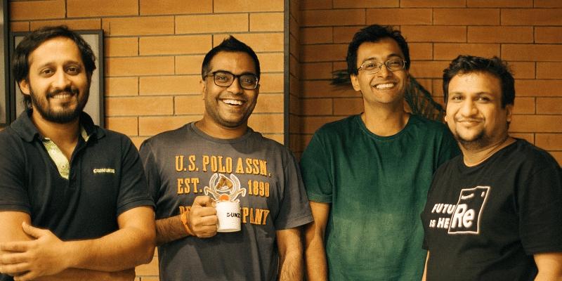 Dunzo Founders - Ankur Aggarwal, Mukund Jha, Kabeer Biswas and Dalvir Suri