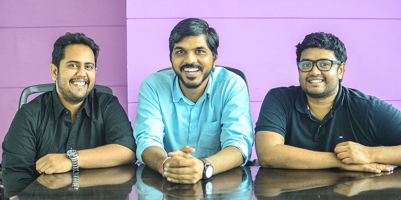 Founders of Swiggy (L-R - Nandan Reddy, Rahul Jaimini and Sriharsha Majety)