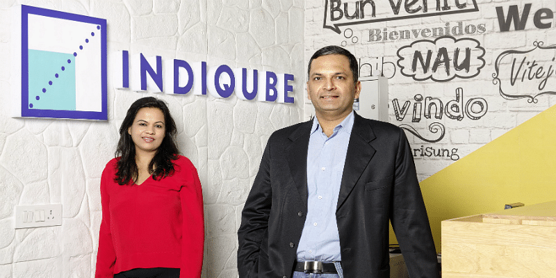 Indiqube Founders Meghna Agarwal (left) and Rishi Das (right)