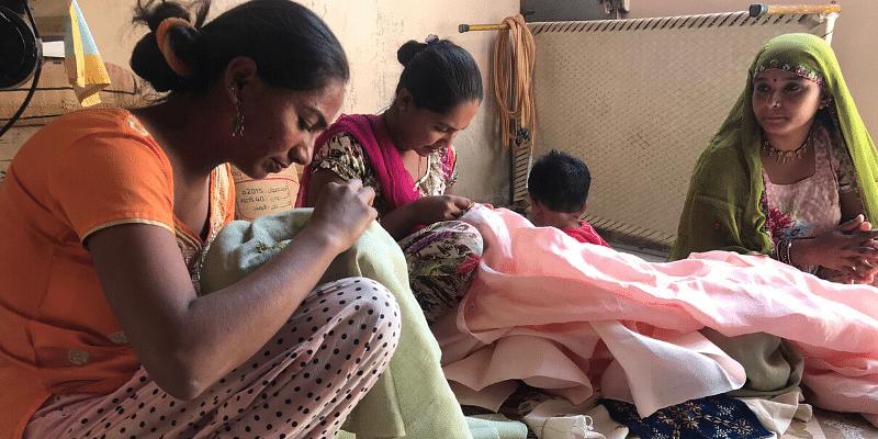 women artisans, suf embroidery, Label_Vanshika