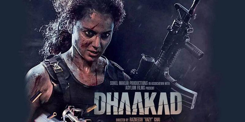 dhaakad poster