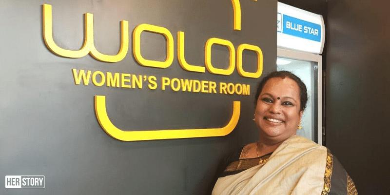WOLOO women's powder room
