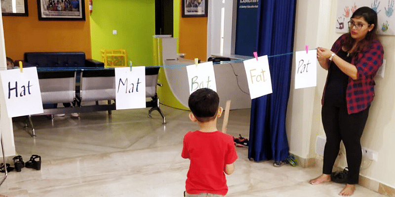 A child learning.