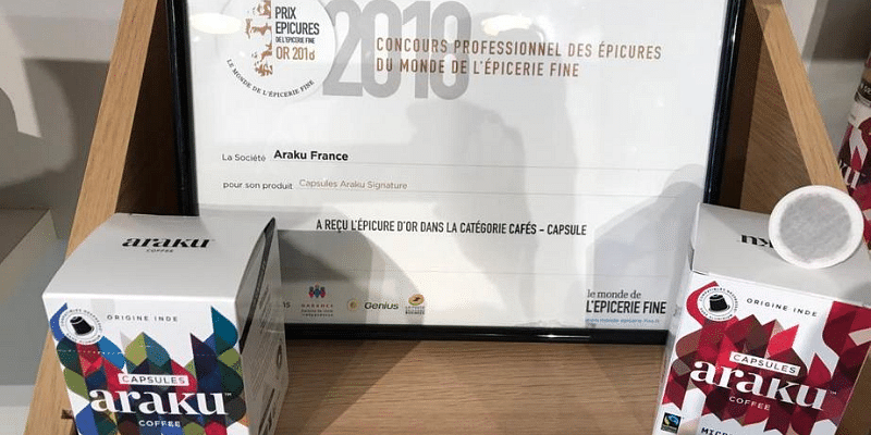 Award for Araku Coffee